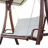 ASS Design Bank aus Holz Lärche für Hollywoodschaukel 2-Sitzer KUREDO (ohne Gestell!!!) von