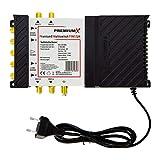 PremiumX PXMS 5/4 Multischalter mit Netzteil Multiswitch 1 SAT für 4 Teilnehmer Satverteiler Digital HDTV FullHD 4K UHD 8K