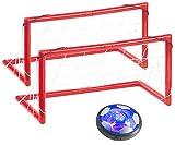 Playtastic Hooverball: Akku Luftkissen-Indoor-Fußball, Farb-LEDs, Möbelschutz, 2 Tore (Hoover-Fussball)