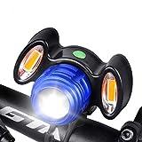 NONREN Fahrradlicht, Ultra Hell LED USB Aufladbar, wasserdichte Fahrradlicht Fahrradlampe für Radfahren