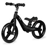 KIDWELL FORCE Kinder Laufrad ab 2 Jahren | Gleichgewichtstraining Balance Lauffahrrad mit leicht (2,56kg) Magnesiumkonstruktion | 12 Zoll EVA-Schaumräder | Schwarz