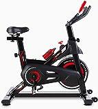 femor HeimtrainerFahrrad, Indoor Cycle 150 kg Belastbar, Fitnessbike mit stufenlose Widerstandseinstellung, Fünf Höhenverstellungen von Armlehnen und Kissen, Heim Sitzfahrrad mit Datenanzeige