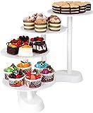 Femor Tortenständer 4 Etagere Platten Hochzeitstorte Weiß Tortenstaender 4 Etagen Kuchenständer Torten Cupcake Deko für Geburtstag, Hochzeit und Party