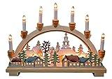 Schwibbogen Lichterbogen  'Winterdorf' 10flammig innenbeleuchtet farbig Weihnachten Advent Geschenk Dekoration (10793)