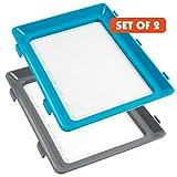 Lunchbox to go | Praktische Bento-Box BPA-frei | Umweltfreundliche Brotdose für Mikrowelle & Spülmaschine | Frischhaltedose Click & Fresh 2er-Set