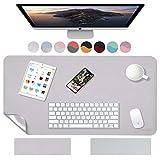 Weelth Multifunktionale Schreibtischunterlage, wasserdicht, aus PU-Leder, doppelseitig, Schreibunterlage für Büro/Zuhause