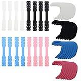 Maskenhaken,Saijer 32 Stücke Silikon Anti-rutsch Mehrfarbig Einstellbar Ear Hook Ohrseileinsteller und Ohrhakenclip für Schnalle Ohrenschmerzen Gelindert