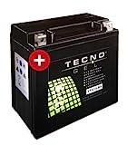 TECNO GEL Motorrad-Batterie YTX14-BS, 12V Gel-Batterie 12 Ah (DIN 51214), 151x87x145 mm inkl. Pfand
