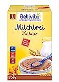 Bebivita Milchbreie ohne Zuckerzusatz-Großpackung, Milchbrei Kakao, 4er Pack (4 x 500 g)