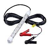 Htipdfg Fischen-Licht Unterwasserbeleuchtung Fischen LED-Lampe 20w DC 12V 6M Kabel IP68 wasserdicht (Emitting Color : White, Wattage : 20W)