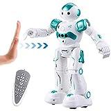 Virhuck R2 Ferngesteuerter Roboter mit Selbstausgleich und Bewegungssensor, Intelligente Programmierung Singen Walking RC Spielzeug mit LED Augen für Kinder - Blau