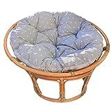 Totsy Baby 2 in 1 Krabbeldecke rund und papasansessel Kissen - großes Bodenkissen gepolsterte Matratze Spielteppich Sitzkissen Hängesessel Polster grau-weiß Ø 110 cm