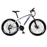 Mountainbikes 26 Zoll Aufhängen MTB Jugendmountainbike Jugendfahrrad Shimano 21 Gang-Schaltung, Gabelfederung, Jungen-Fahrrad Herren-Fahrrad (Blau)