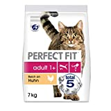 Perfect Fit Adult 1+ – Trockenfutter für erwachsene Katzen ab 1 Jahr – Reich an Huhn – Unterstützt die Vitalität – 7 kg