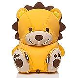 Pandana® Kinderrucksack Lenny Löwe mit Brustgurt für Jungen und Mädchen im Kindergarten oder Kita von 2 bis 5 Jahren, aus isolierendem Neopren mit Anti-Lost-System