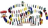 Jaques of London Dominoes-Rallye - Dominoes-Rallye-Set mit Brücken, Glockenturm und Windmühle - Stunden kreativen Spaßes