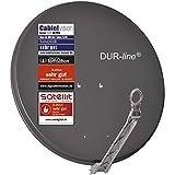 DUR-line Select 75cm x 80cm Alu Satelliten-Schüssel Anthrazit - [ 3X Test SEHR GUT *] Aluminium Sat-Spiegel