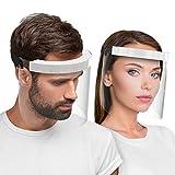 HARD 2X Visier Zertifizierter Gesichtsschutz Gesichtsschild Anti Beschlag, Gesichtsvisier Face Shield Made in Germany für Erwachsene - Schwarz