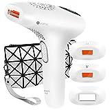 Lapurete Pro 8 IPL Haarentfernungsgerät  600.000 Lichtimpulse Haarentferner mit 3 Aufsätzen für langanhaltende Haarentfernung, Damen und Männer, 7,8J/cm² - für Körper, Gesicht, Bikini-Zone & Achseln