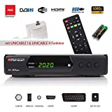 Opticum SBOX Plus HD Sat-Receiver - PVR Aufnahmefunktion Timeshift - Media-Player Full-HD Digitalreceiver DVB-S / S2 - USB, SCART, HDMI, UNICABLE - Astra Hotbird vorinstalliert + Anadol HDMI Kabel