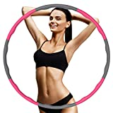 FanIce Hulla Hub Reifen zum Abnehmen, Hula Reifen Hoop Erwachsene, 6-8 Segmente Abnehmbarer Hoop, Einstellbar Breit, Reifen mit Schaumstoff, für Training, Sport und Bauchformung