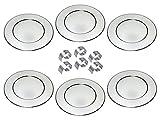 chg Profi Platzteller-Set, 6er inkl. 6 Serviettenringen mit prakt. Schlitz, Edelstahl, Silber, 6 Stück Einheiten