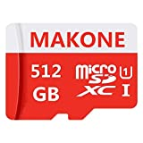 Geneircc Micro-SD-Speicherkarte mit Adapter, High Speed Class 10 SDXC-Karte, 512 GB / 1024 GB, 512GB