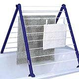 Leifheit Badewannentrockner Pegasus Bath 110, standfester Standtrockner für die Wanne, kompakter Wäscheständer, besonders schmaler Wäschetrockner für die Badewanne