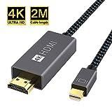 iVANKY Mini DisplayPort auf HDMI Kabel, 4K@60Hz Nylon Thunderbolt auf HDMI Kabel - 2M