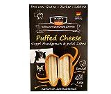QCHEFS Puffed Cheese |Hunde Zahnpflege-Snack|Kauknochen groß| Knochen gegen Mundgeruch & Zahnfleischentzündung| Zahnsteinentferner|Hundeleckerlie| Kauartikel|Hüttenkäse- natürlich antibakteriell
