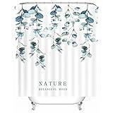 X-Labor Streifen Motiv Duschvorhang Wasserdicht Stoff Anti-Schimmel inkl. 12 Duschvorhangringe Waschbar Badewannevorhang 180x200cm Muster-D
