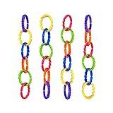 talinu bunte Kinderwagenkette 24-teilig | Babyspielkette, Wagenkette, Kinderwagenspielzeug