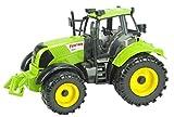 22 Cm x 12-Cm-Reibung Angetriebener GRÜNER Farm-Traktor Mit dem Öffnenden Häubchen (HL64) [Spielzeug]