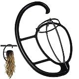 Mildiso Perücken halter Perücke hängende Kleiderbügel Portable Tragbarer Perückenständer für alle Perücken und Hüte,Wig Hanger, Hut- und Kappenhalter, Werkzeughalter 024
