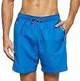 Calvin Klein Herren Medium Drawstring Badehose, Blau (Snorkel Blue 19-4049 CJR), Small