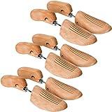 TecTake 800593-3 Paar Lotusholz Schuhspanner, Abhilfe bei drückenden Stellen, Universell für Damen- und Herrenschuhe - Diverse Größen (39-41   Nr. 403008)
