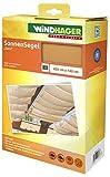 Windhager Sonnensegel für Seilspanntechnik, Wintergarten und Terrassen Beschattung, Seilspannmarkise, 420 x 140 cm, 10878