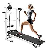 Wenhu Mechanische Laufband 3 in 1 Multi-Funktions-Tapis Roulant Gymnastikraum Fitnesstraining Übung Laufe Treadmils HWC
