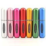 Lawei 7 Stück Parfümzerstäuber Sprühflaschen - 5ml Nachfüllbare Mini Zerstäuber für Ausflug Reise Parfüm Flaschen