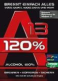 Alcohol 120% Version 13 - Brennen, Kopieren, Rippen, Sichern Windows 10 / 8.1 / 7