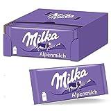 Milka Alpenmilch 24 x 100g Tafel, Zartschmelzende Milka Alpenmilch Tafel Schokolade