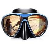 Taucherbrille Schnorchel Set, 2020 Erwachsene Schnorcheln Tauchen Maske Kein Auslaufen Anti Fog UV Schutz 180 Grad Vision Silikon Schwimmbrille Maske für freies Tauchen