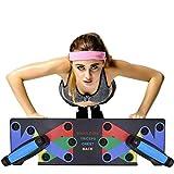9 in 1 Push Up Rack Board liegestützen Brett Muskeltraining System mit Ständer - Liegestützgriffe Krafttraining Turnhalle Fitnessgeräte Home Trainingsgeräte