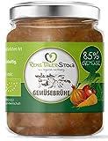 BIO Gemüsebrühe Naturbelassen - kein Pulver. 85% Gemüse. Ohne Hefe, Zucker, Geschmacksverstärker, Glutamat, Öl, etc.(4 x 150g)
