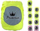 EANAGO Premium Schulranzen/Rucksack Regenschutz/Regenüberzug, ohne Nähte, 100% wasserdicht, mit Sicherheits-Reflektionsbild Princess