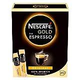 NESCAFÉ GOLD Typ ESPRESSO, hochwertiger Espresso aus löslichem Bohnenkaffee mit 100% feinen Arabica Kaffeebohnen, koffeinhaltig, mit samtiger Crema, 1er Pack (à 25 x 1,8g Sticks)