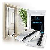 TOOLCORE® Staubschutztür mit Reißverschluss 1,10x2,20m | 2 Stück | Ideal als Staubschutzwand, Bautür, Schmutzschleuse
