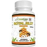 GELEE ROYALE KAPSELN - Hochwirksame Gelee Royale Pur Kapseln Extrakt - Unterstützt die Fruchtbarkeit, Haare, Haut und Heuschnupfen- Hilfe für Frauen und Wechseljahre - 60 Vegan Royal Jelly Capsules