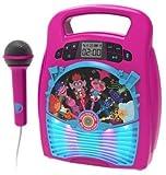 ekids TR-553 Trolls World Tour Karaoke-Maschine mit Bluetooth, LED Lightshow, USB-Port, Speicherplatz, Rose