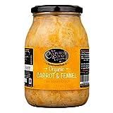 The Cultured Food Company Bio Sauerkraut mit Karotte & Fenchelsamen 1 KG - Unpasteurisiertes Sauerkraut traditionell fermentiert mit lebendigen Kulturen - Bio, Roh, Vegan - 1 x 1 KG Glas